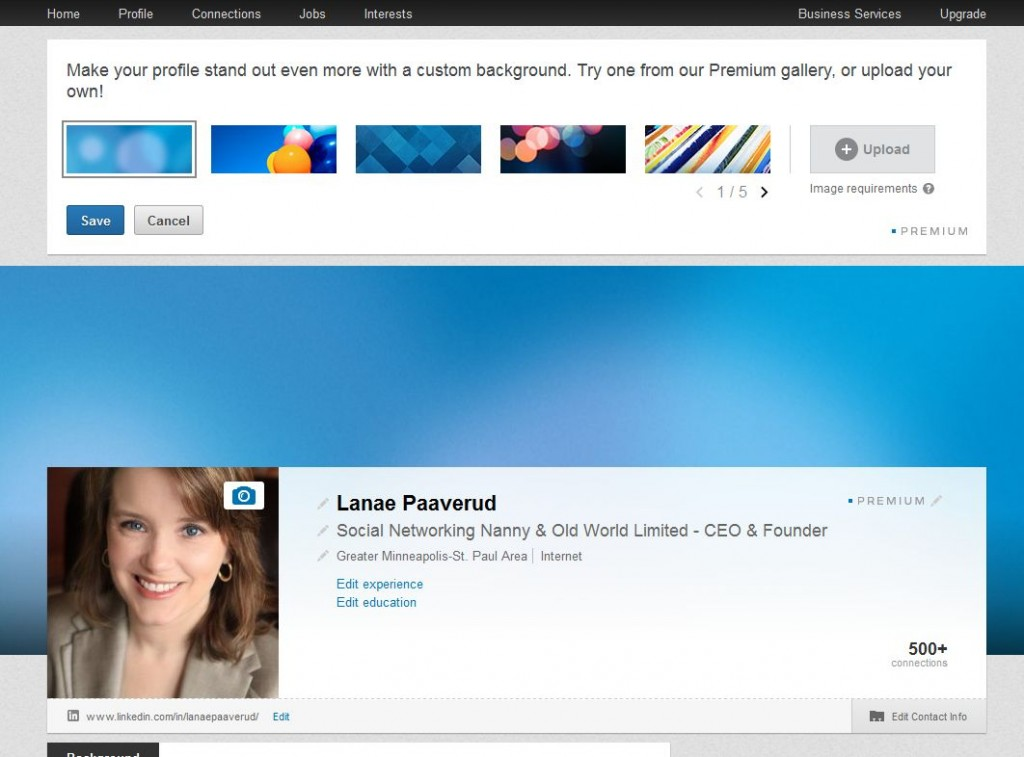 LinkedIn Adds Banner Customization